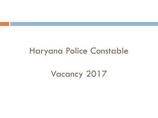 HSSC Police Constable Recruitment 2017
