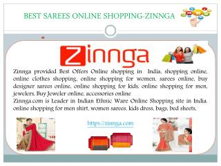 Best Sarees Online Shopping -zinnga