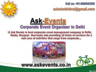 Corporate Event Organizer in Delhi