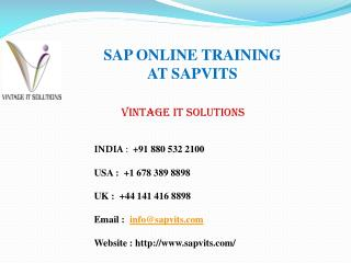 SAP Online Courses Training Material Ppt