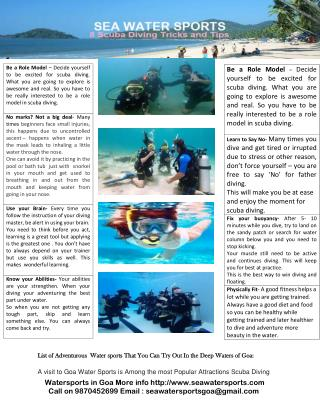 Scuba Diving at Grand Island, scuba diving in goa price,Book squba diving in goa