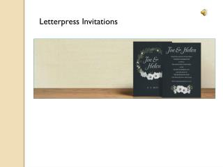 Invitations for Letterpress