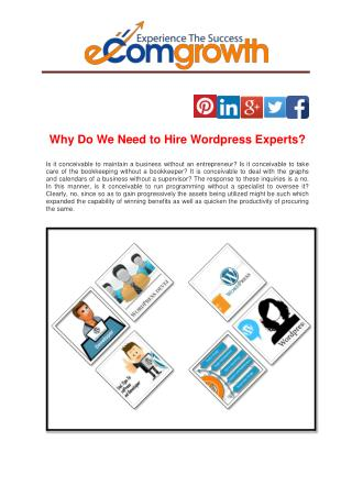 Why Do We Need to Hire Wordpress Experts?
