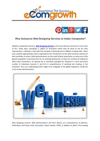 Why Outsource Web Designing Services to Indian Companies?
