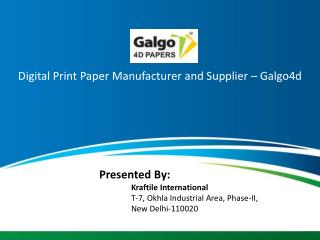 Digital Print Paper Manufacturer and Supplier – Galgo4d