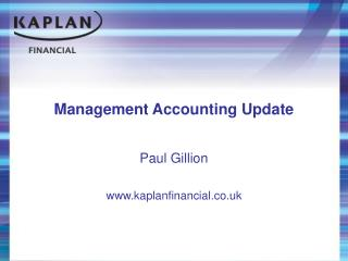 Management Accounting Update