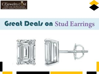 Cubic Zirconia Stud Earrings - Grab the Best Deals on CZ Jewelry