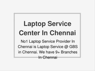 Laptop Service Center In Chennai