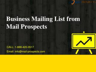 Business Mailing List From Mail Prospects
