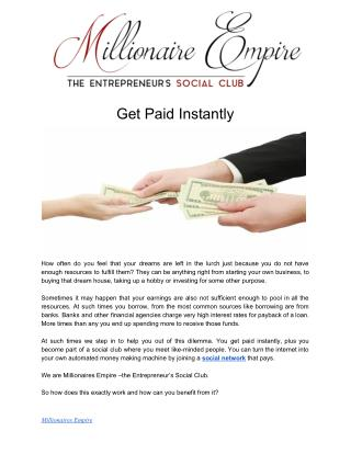 Get Paid Instantly