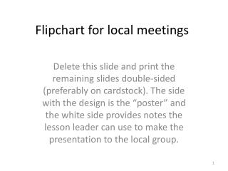Flipchart for local meetings