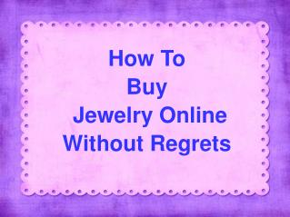 Online Handmade Jewellery Shopping