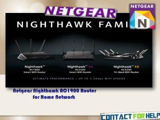 NETGEAR Nighthawk AC1900 Router for Home Network
