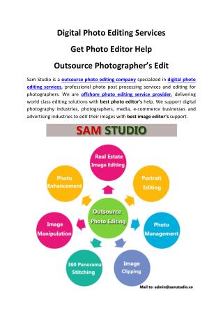 Digital Photo Editing Services – Get Photo Editor Help – Outsource Photographer's Edit