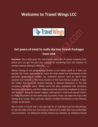Umrah Packages from USA, Best Travel Service in Baltimore