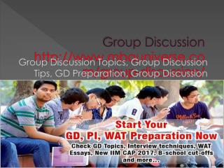Group Discussion (GD) Topics - Latest GD Topics with Answers