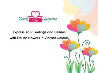 Online flower in different colors