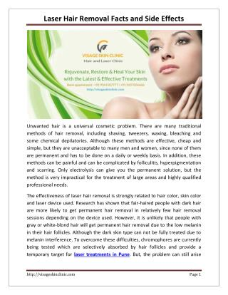 Laser Hair Removal Facts and Side Effects