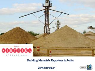 Building Materials Exporters in India