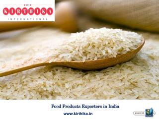 Food Products Exporters in India