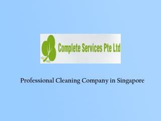 Cleaning Industry in Singapore