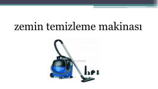 zemin temizleme makinası