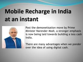 Mobile Recharge In India at an instant