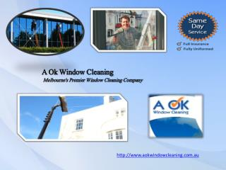 Domestic & Commercial Window Cleaning Service Melbourne | AOk Window Cleaning