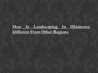 Landscaping Oklahoma City Ok