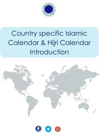 Country Specific Islamic Calendar & Hijri Calendar Introduction - Makkah Calendar