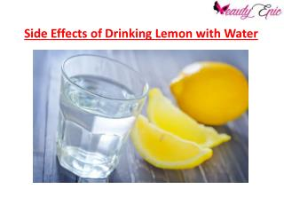 Side Effects of drinking Lemon with Water