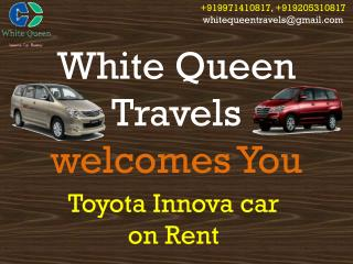 Toyota innova car on Rent and hire in Delhi