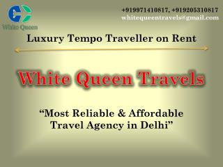 Luxury Tempo Traveller on Rent and hire in Delhi