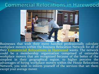 Commercial Relocations in Harewood