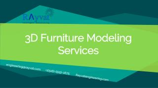3D Furniture Modeling Services