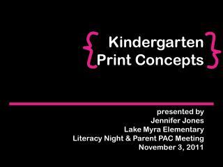 Kindergarten Print Concepts