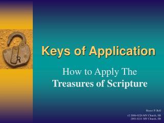 Keys of Application