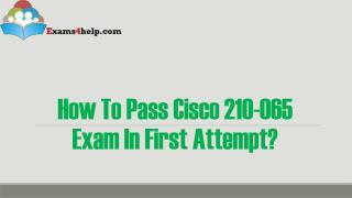 Cisco 210-065 Braindumps