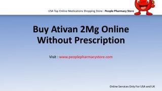 Buy Ativan 2Mg Online Without Prescription