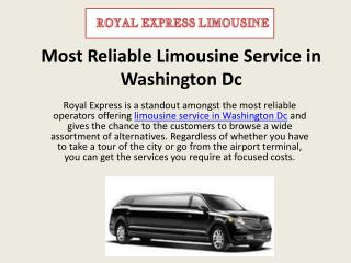 Most Reliable Limousine Service in Washington Dc
