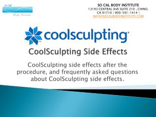 CoolSculpting side effects after the procedure