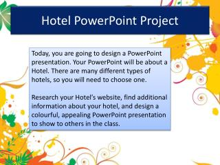 Hotel PowerPoint Project