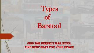 Types of Barstool