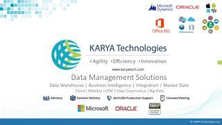KARYA Technologies - Data Management Services