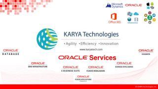 KARYA Technologies - Oracle Services