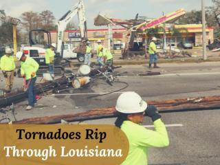 Tornadoes rip through Louisiana
