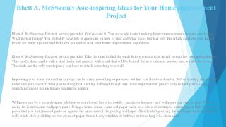 Rhett A. McSweeney Get the Right Home Owner's Insurance Policy for You