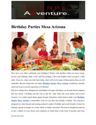 Birthday Parties Mesa Arizona