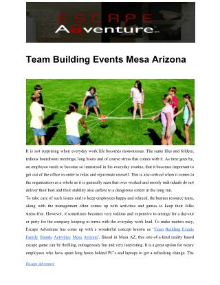 Team Building Events Mesa Arizona