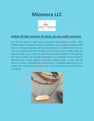 Indian Wedding Jewelry, Handcrafted Jewelry - Miomora